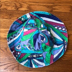 Accessories - Pucci inspired patterned sun hat
